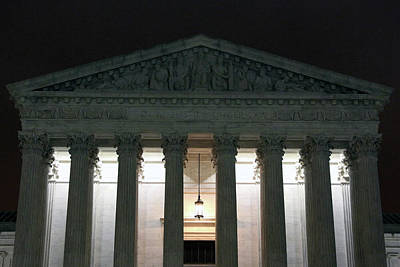 Photograph - The Supreme Court At Night by Cora Wandel