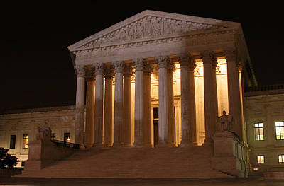 The Supreme Court Building At Night Art Print by Brian M Lumley