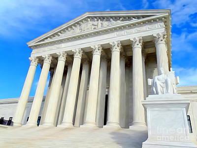 Digital Art - The Supreme Court by Ed Weidman
