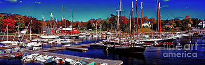 Photograph - The Surprise In Camden Harbor Maine by Tom Jelen