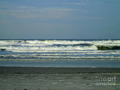 Beach Photograph - The Surf At Ponce Inlet Beach by D Hackett