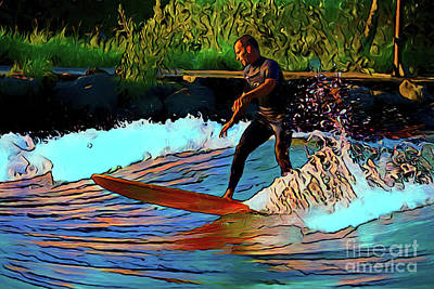 Photograph - The Surfer 16518 by Ray Shrewsberry