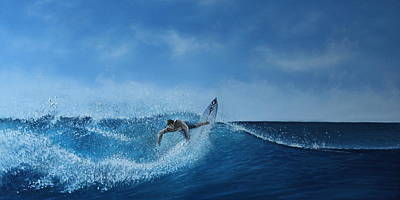 The Surfer Art Print by Paul Newcastle