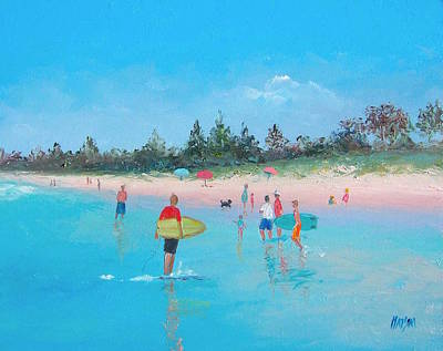 Sydney Vacation Painting - The Surfers by Jan Matson