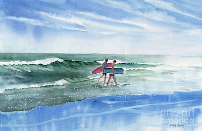 Painting - The Surfers by Melly Terpening