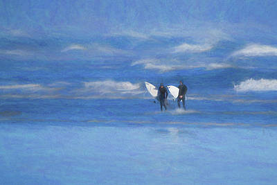 Photograph - The Surfers Return by Keith Boone