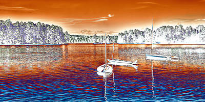 Northeast Digital Art - The Surreal Seascape by David Patterson