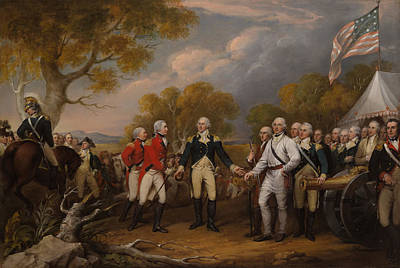 American Revolution Painting - The Surrender Of General Burgoyne At Saratoga by Mountain Dreams