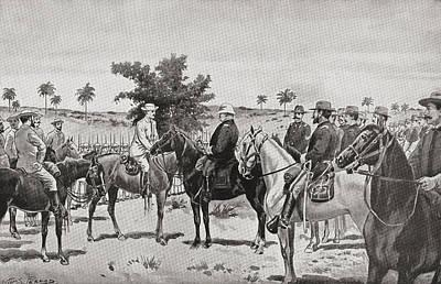 The Surrender Of Santiago De Cuba By Art Print by Vintage Design Pics