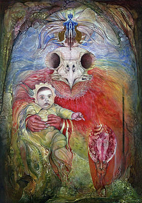 Painting - The Surrogate Mother-goddess Of Wisdom by Otto Rapp