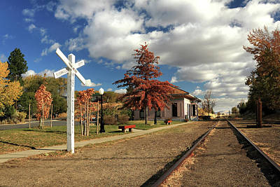 Photograph - The Susanville Train Depot by James Eddy