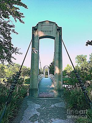 Photograph - The Suspension Bridge by Nancy Kane Chapman
