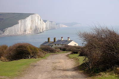 Photograph - The Sussex Coast Guard Cottages by Will Gudgeon