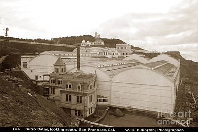 Photograph - The Sutro Baths, Looking South, San Francisco, Cal. by California Views Mr Pat Hathaway Archives