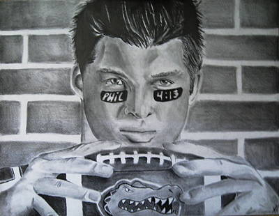 Tim Tebow Drawing - The Swamp by Jenna McMullins
