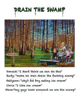 Digital Art - The Swamp by Joe  Palermo