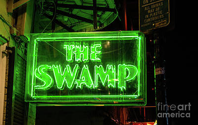 Neon Signs Photograph - The Swamp Neon  by Tod and Cynthia Grubbs
