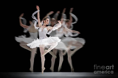 Art Print featuring the photograph The Swan Ballet Dancer by Dimitar Hristov