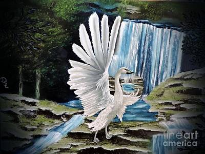 Painting - The Swan by Dianna Lewis