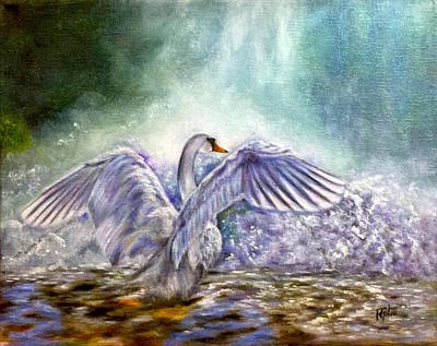 Painting - The Swan's Song by Dr Pat Gehr