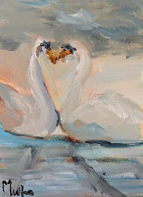 Painting - The Swans Will Soon Return by Michael Helfen
