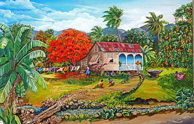 Trinidad House Painting - The Sweet Life by Karin  Dawn Kelshall- Best