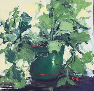 Painting - The Sweet Potato Plant by Mary Scott