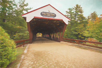 Photograph - The Swift River Covered Bridge,in North Conway New Hampshire. Lo by Rusty R Smith