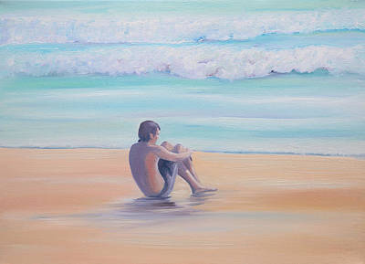 Painting - The Swimmer by Elizabeth Lock