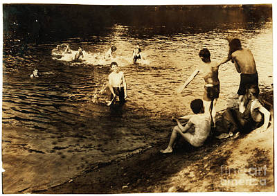 Swimming Hole Painting - The Swimming Hole by Celestial Images