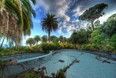 Photograph - The Swimming Pool Of The Former Summer Vacation Building - La Piscina Dell'ex Colonia Marina by Enrico Pelos