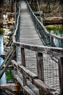 Photograph - The Swinging Bridge by James Woody