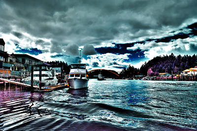 Boating Digital Art - The Swinomish Channel In La Conner by David Patterson