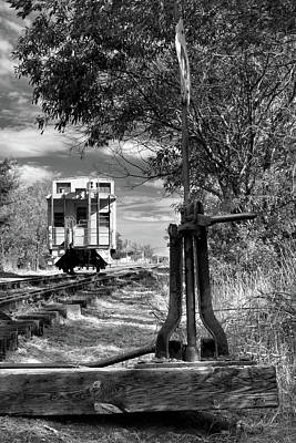 Kim Fearheiley Photography Royalty Free Images - The Switch And The Caboose Royalty-Free Image by James Eddy