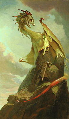Painting - The Sword Of Alboin by Jim Thiesen