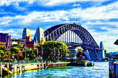 Photograph - The Sydney Bridge by Rick Bragan