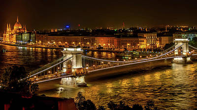 Budapest Hungary Attractions Photograph - The Szechenyi Chain Bridge - Budapest by The Photographer