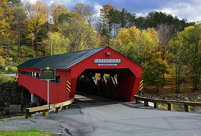 Photograph - The Taftsville Covered Bridge by Mike Martin