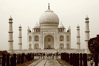 Photograph - The Taj Mahal At Agra, India by Aidan Moran