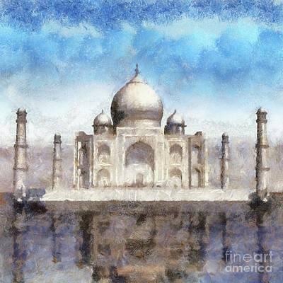 Mahal Painting - The Taj Mahal By Sarah Kirk by Sarah Kirk