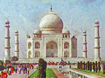 Digital Art - The Taj Mahal by Digital Photographic Arts