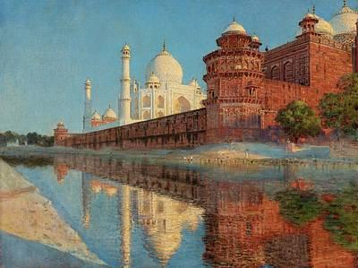 Taj Mahal Painting - The Taj Mahal, Evening by Vasily Vasilievich Vereschagin