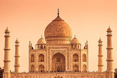 Photograph - The Taj Mahal Of India In Warm Tones by Nila Newsom