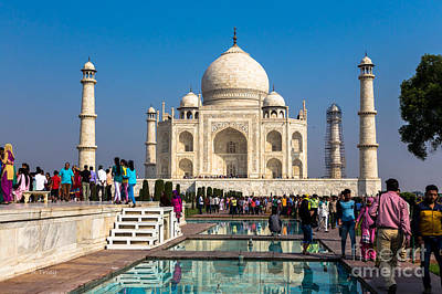 Photograph - The Taj Reflective Ponds by Rene Triay Photography