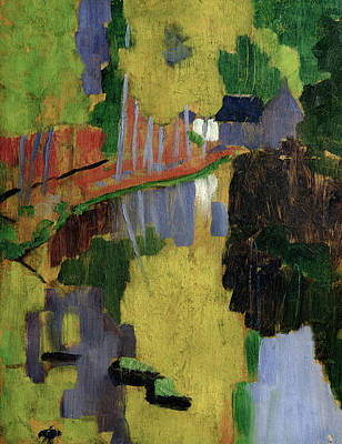 The Talisman Or The Swallowhole In The Bois Damour Pont Aven Art Print by Paul Serusier