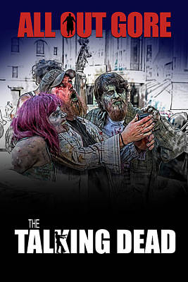 Digital Art - The Talking Dead by John Haldane