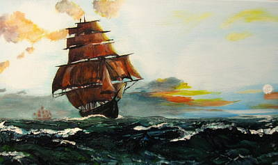 Painting - The Tall Ships by Mike Benton