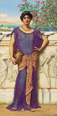 Painting - The Tambourine Girl by John William Godward