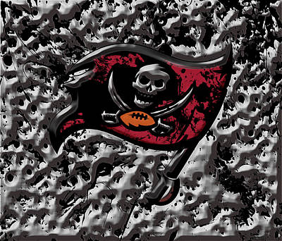 The Tampa Bay Buccaneers 1a Art Print by Brian Reaves