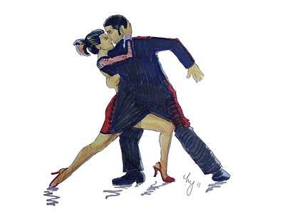 Painting - The Tango by Mike Jory